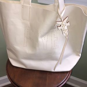 Frye Carson Logo Perforated Tote